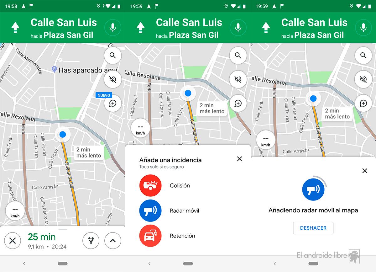 Google Maps Straßensperrung Melden