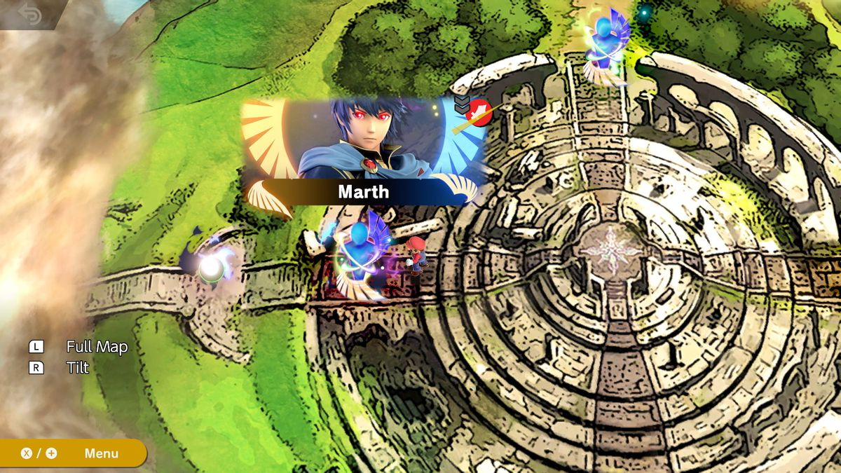 Super Smash Bros. Ultimate - Überweltkarte des World of Light-Modus