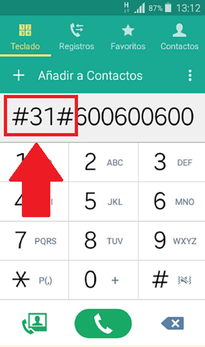 Mit Betreibercode (Spanien)