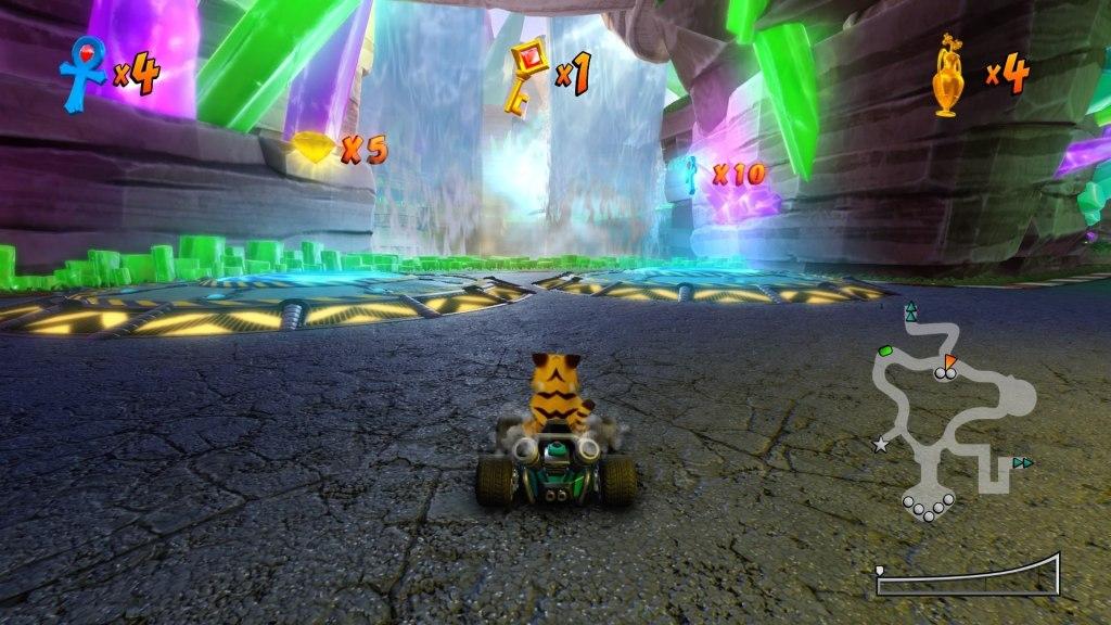 Crash Team Racing Nitro-Fueled: Apenas ajustes estéticos.