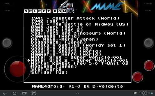 MAME4droid Android Emulator App