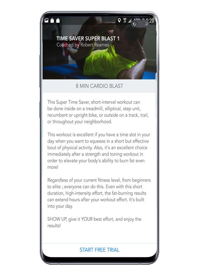Routineerklärung Personal Fitness Coach