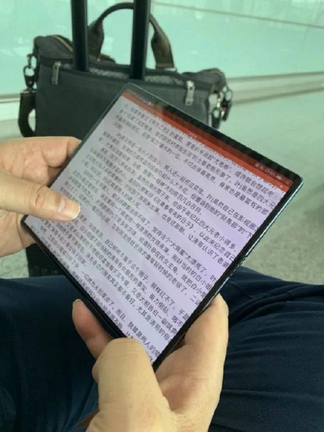 Huawei Mate X-Spezifikationen abgeschlossen, Gerät in den Händen des CEO von Huawei entdeckt 3