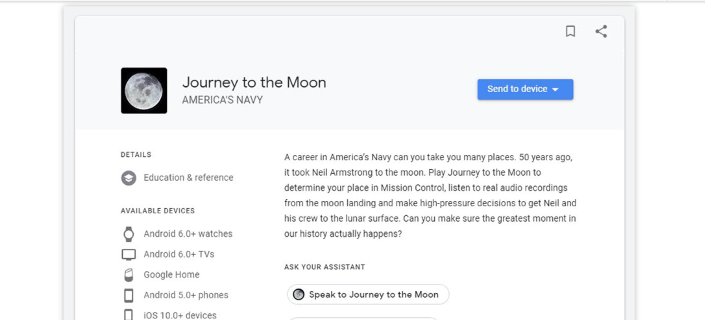 """Google Assistant bringt Sie auf eine """"Reise zum Mond"""""""