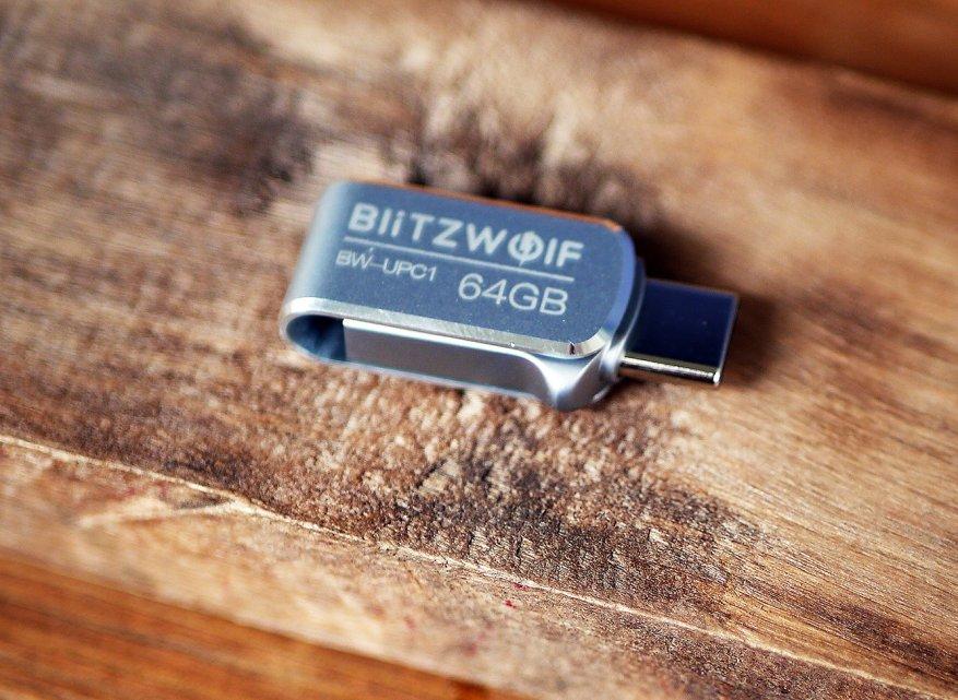 Preiswerter doppelseitiger BlitzWolf BW-UPC1,2-in-1 Typ-C / USB 3.0 USB-Stick 8