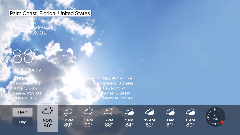 Wetter Live weiter Apple Fernseher