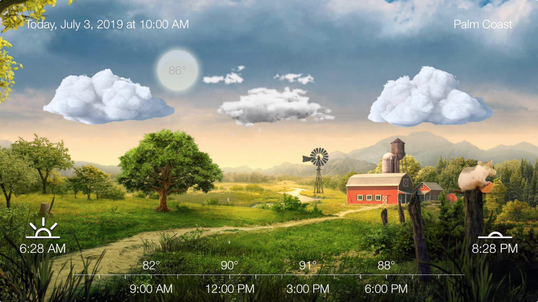 Schönes Wetter und Warnungen an Apple Fernseher