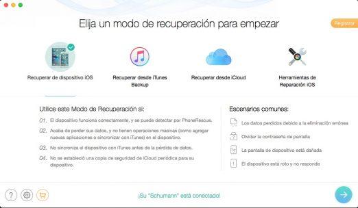 PhoneRescue stellt verlorene Daten von Ihrem iPhone und iPad wieder her 2