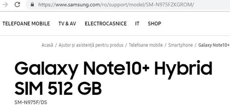 Samsung hat das versehentlich bestätigt Galaxy Note  10+ 2