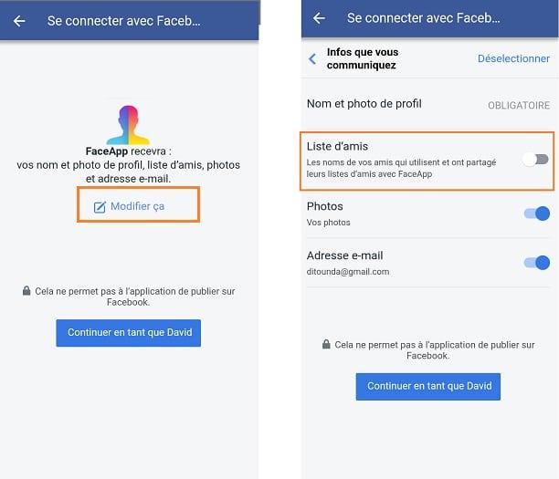 FaceApp Freunde Facebook
