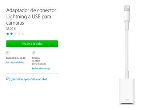 Das iPhone ist mit dem Lightning-USB-Adapter für Kameras kompatibel 2