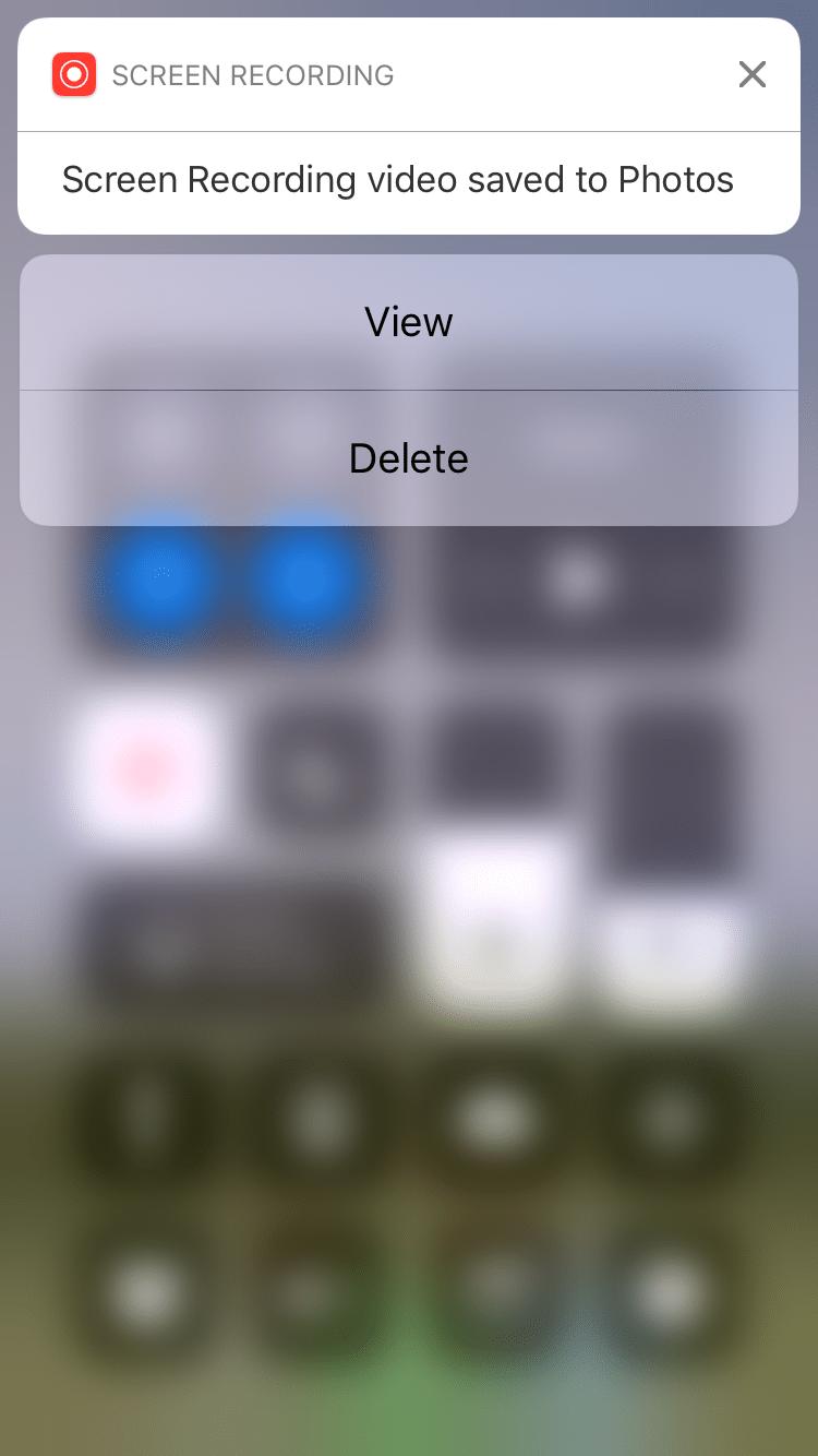 So zeichnen Sie den Bildschirm Ihres iPhones und iPads auf: iOS 11 und niedriger 5