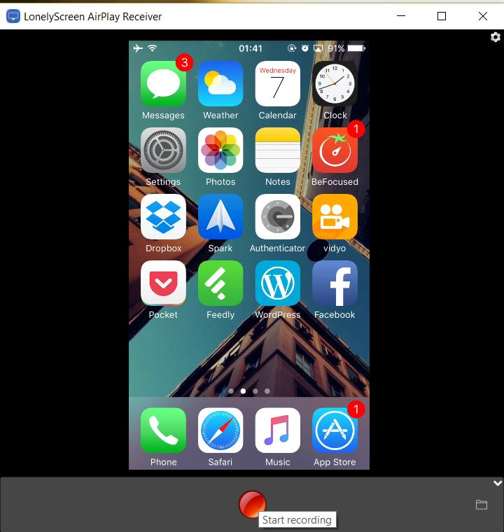 LonelyScreen - So zeichnen Sie Ihren iPhone-Bildschirm mit Ihrem Computer auf