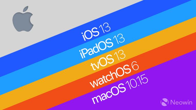 Apple  lançou o segundo iOS 13 público betas e novos desenvolvedores betas 1