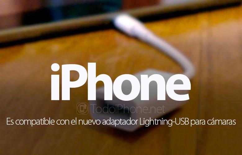 Das iPhone ist mit dem Lightning-USB-Adapter für Kameras kompatibel 1