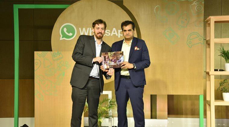 WhatsApp, WhatsApp Niti Aayog, WhatsApp program, WhatsApp Business in India, Will Cathcart, Niti Aayog CEO Amitabh Kant, Amitabh Kant, Tech news