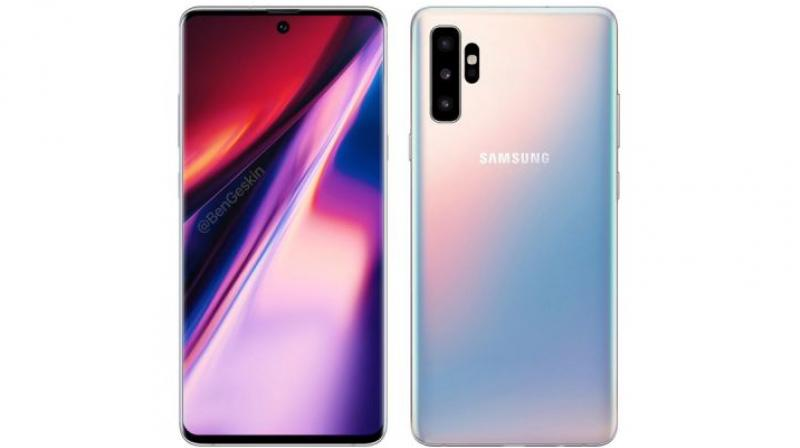 The punch-hole selfie camera centred above looks relatively smaller than the Galaxy S10.