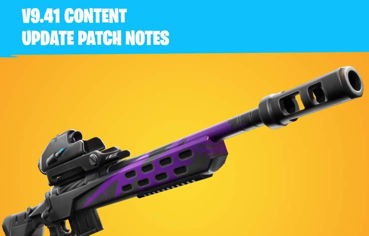 1️⃣ fortnite patch notes für content update 9.41 - neue