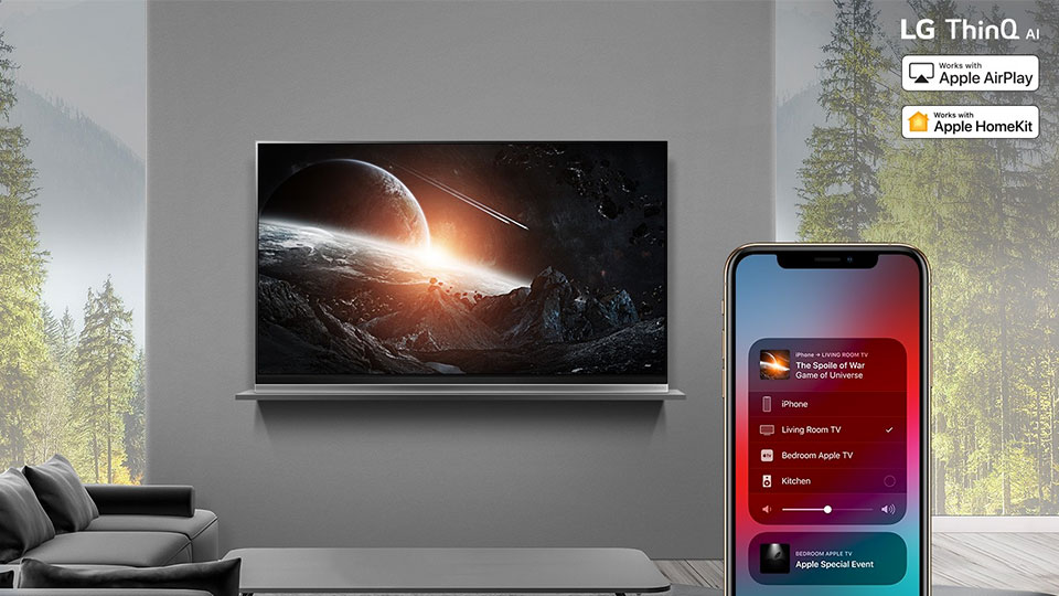LG bringt Apple AirPlay 2 und Homekit unterstützen die Top-Fernseher von 2019 1