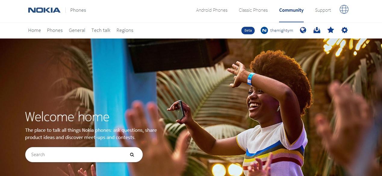 Nokia Mobile fragt, welche Art von Inhalten Sie im Community-Forum sehen möchten.