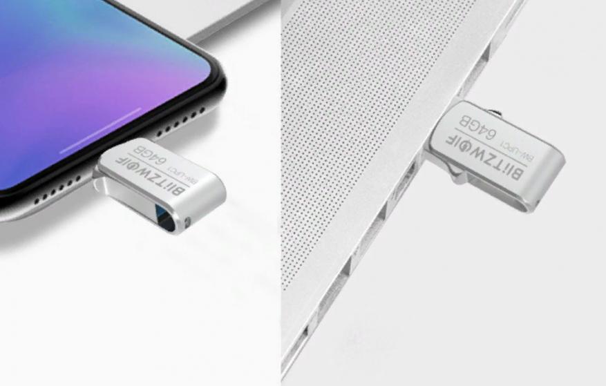 Preiswerter doppelseitiger BlitzWolf BW-UPC1,2-in-1 Typ-C / USB 3.0 USB-Stick 4