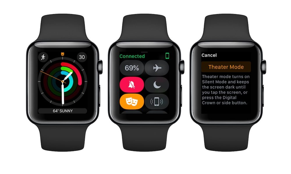 So verwenden Sie den Theater-Modus Apple Watch 1
