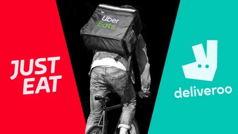 Vergleich Just Eat vs Deliveroo vs Uber Eats