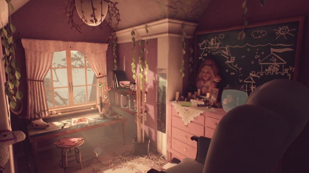 Was von Edith Finch übrig bleibt Switch Screenshot Pinker Raum