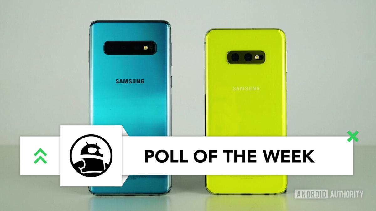 Samsung Galaxy S10 vs Samsung Galaxy S10e zurück grün gelb Umfrage