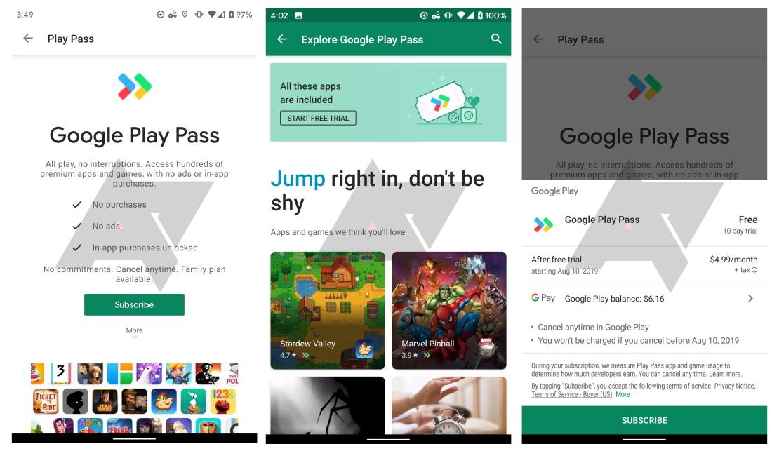 Google Play Pass: Ein Abonnementdienst für Apps und Spiele, der derzeit getestet wird 2