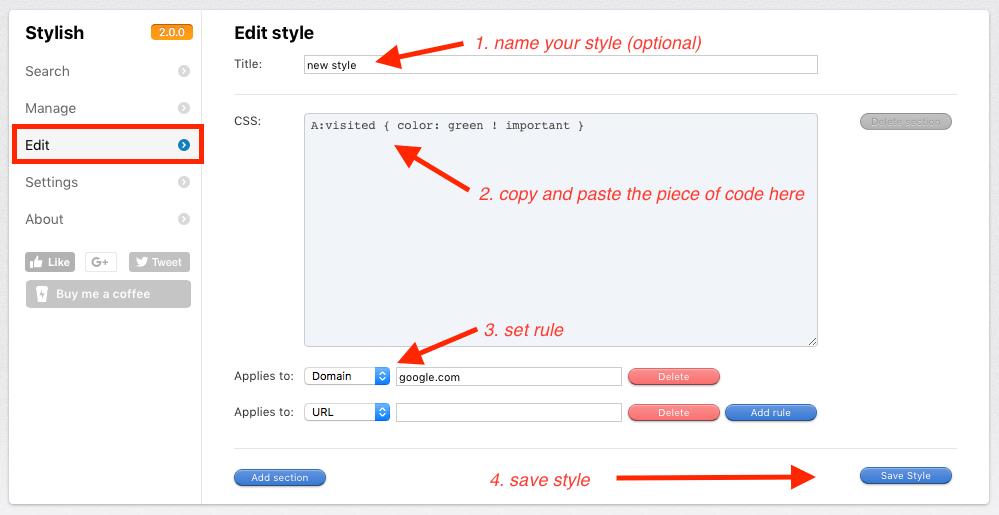 Firefox Besuchte Links Farbe ändern