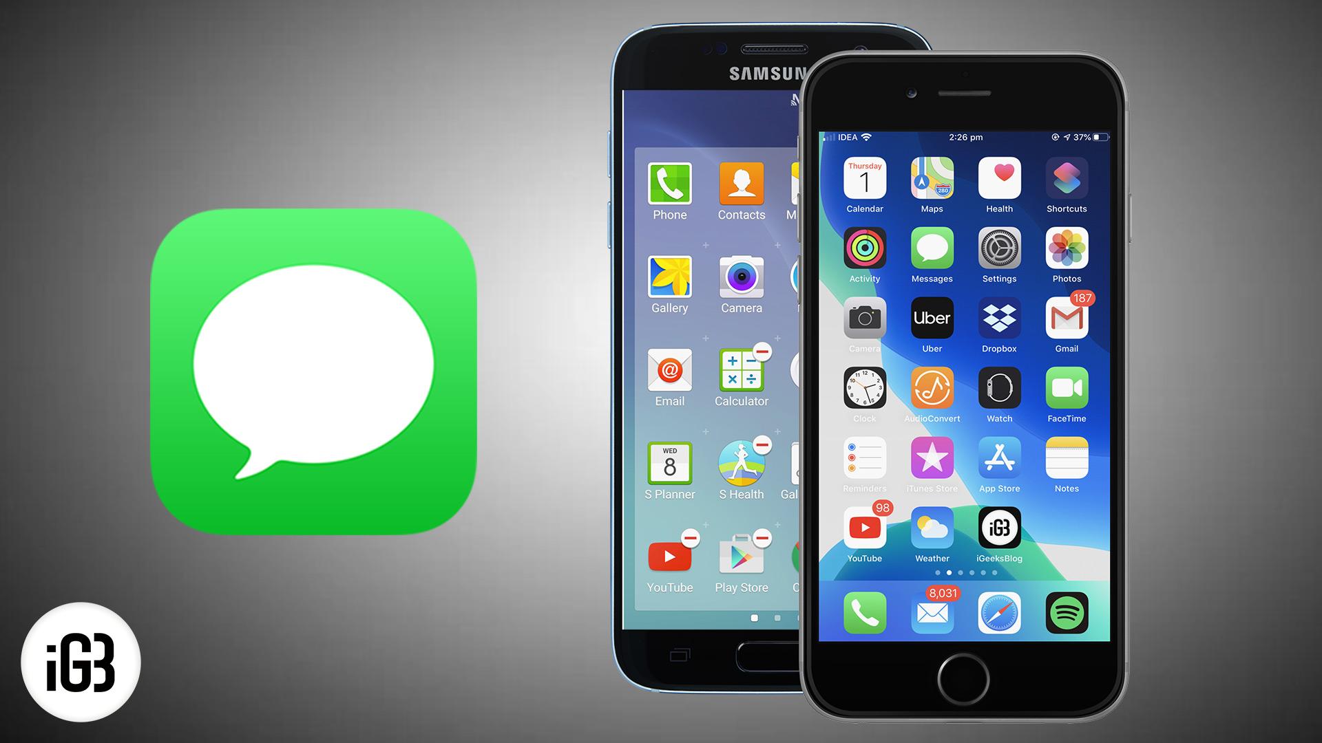 Keine Texte nach dem Wechsel vom iPhone zu Android erhalten: Was ist falsch?