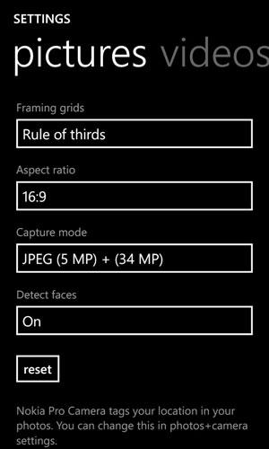 Nokia Lumia 1020 Video- und Fotoaufnahme-Vorschau 3