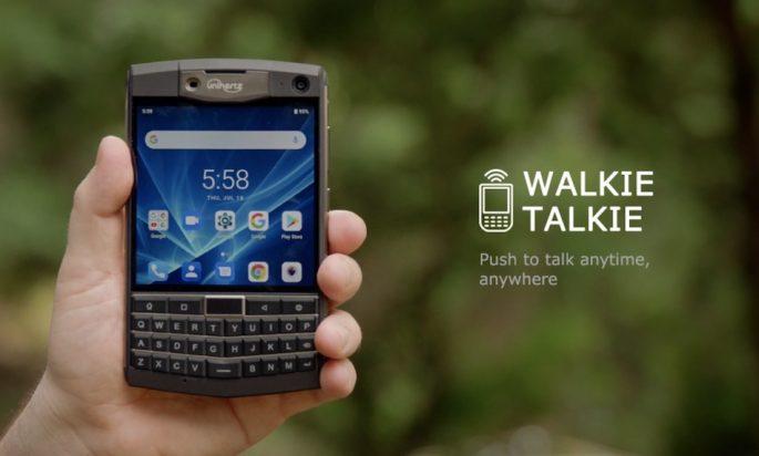 Unihertz Titan verfügt über die Walkie Talkie-Funktion