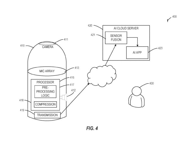 Microsoft patentiert AI-Gerät mit Fischaugen-Kamera und mehreren Mikrofonen 3