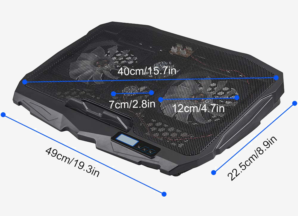 Aicheson Laptop Cooling Pad Chill Mat S-18 Messungen