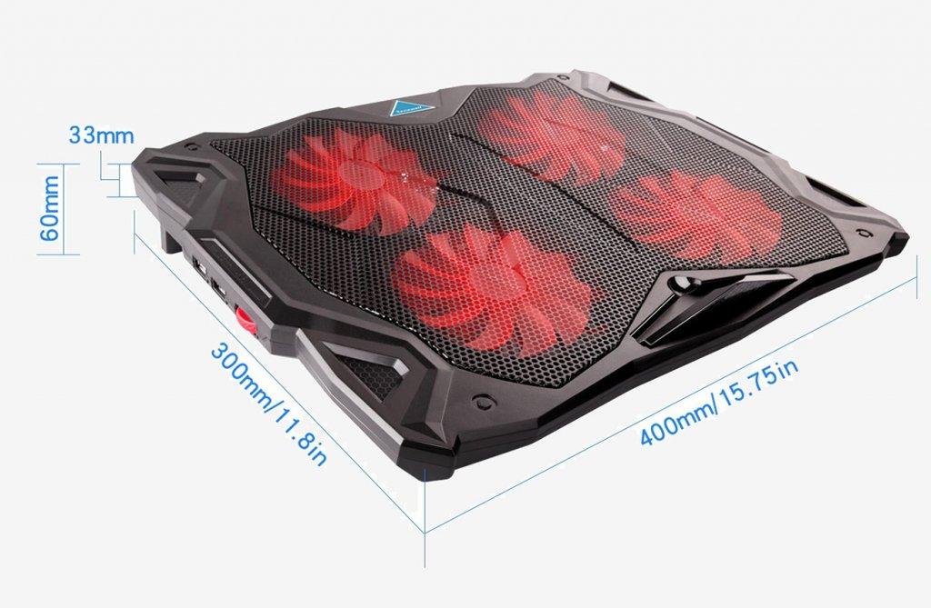 Tenswall Laptop Cooling Pad Messungen