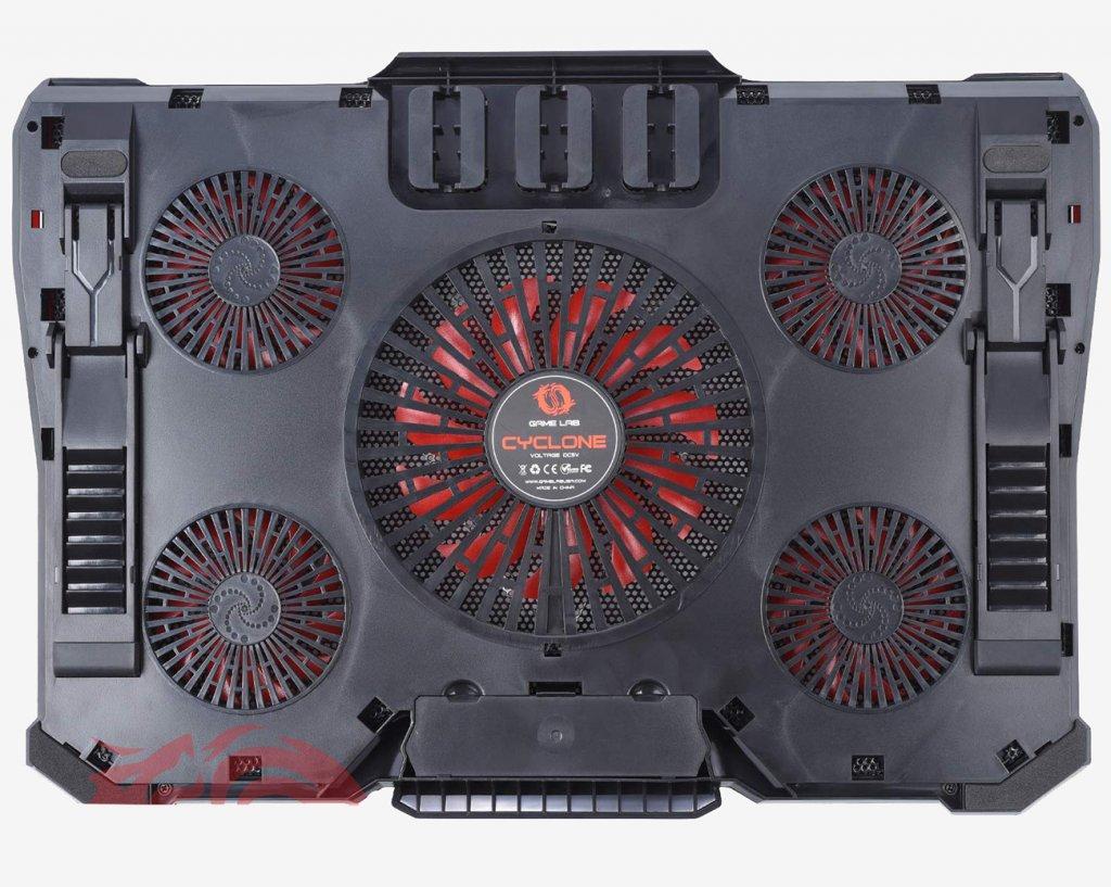 Game Lab Cyclone E-Sport LED-Kühlpad zurück