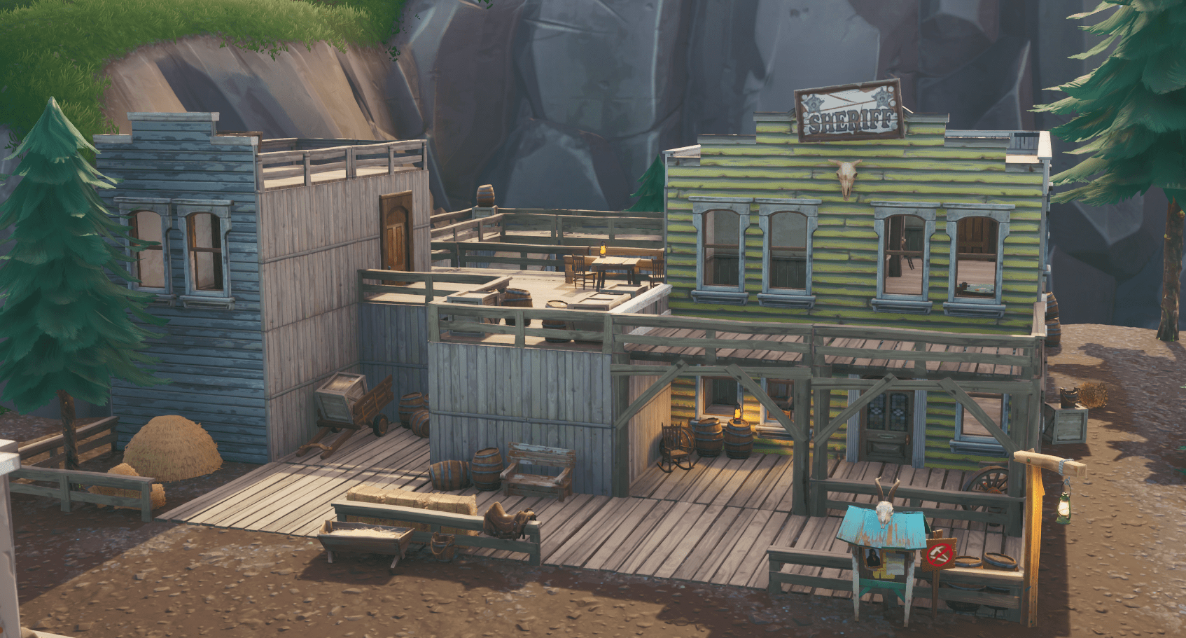 Fortnite    Das Büro des Sheriffs in Tilted Town