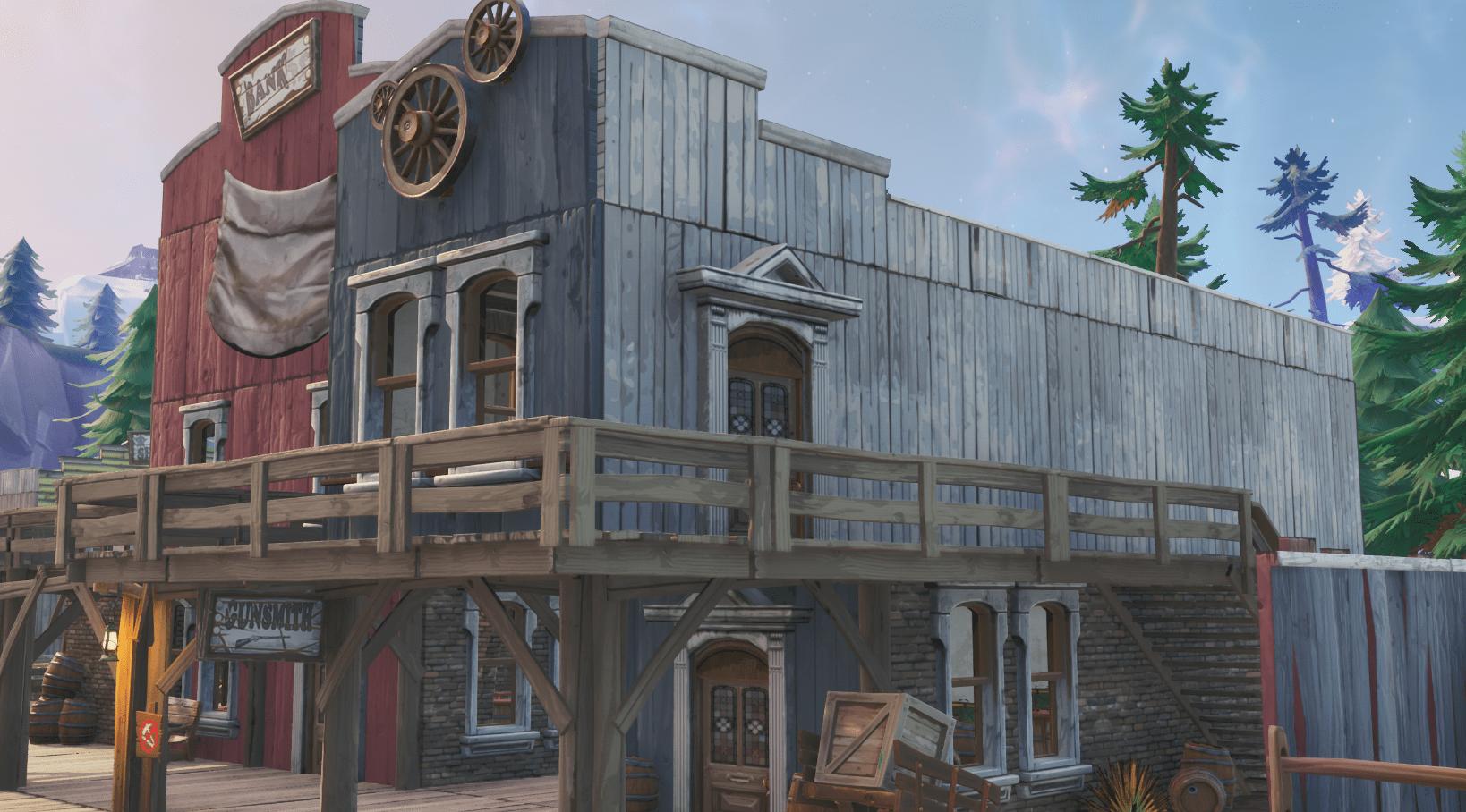 Fortnite    v10.00 Inhalt Kartenänderungen aktualisieren - Tilted Town Gunsmith