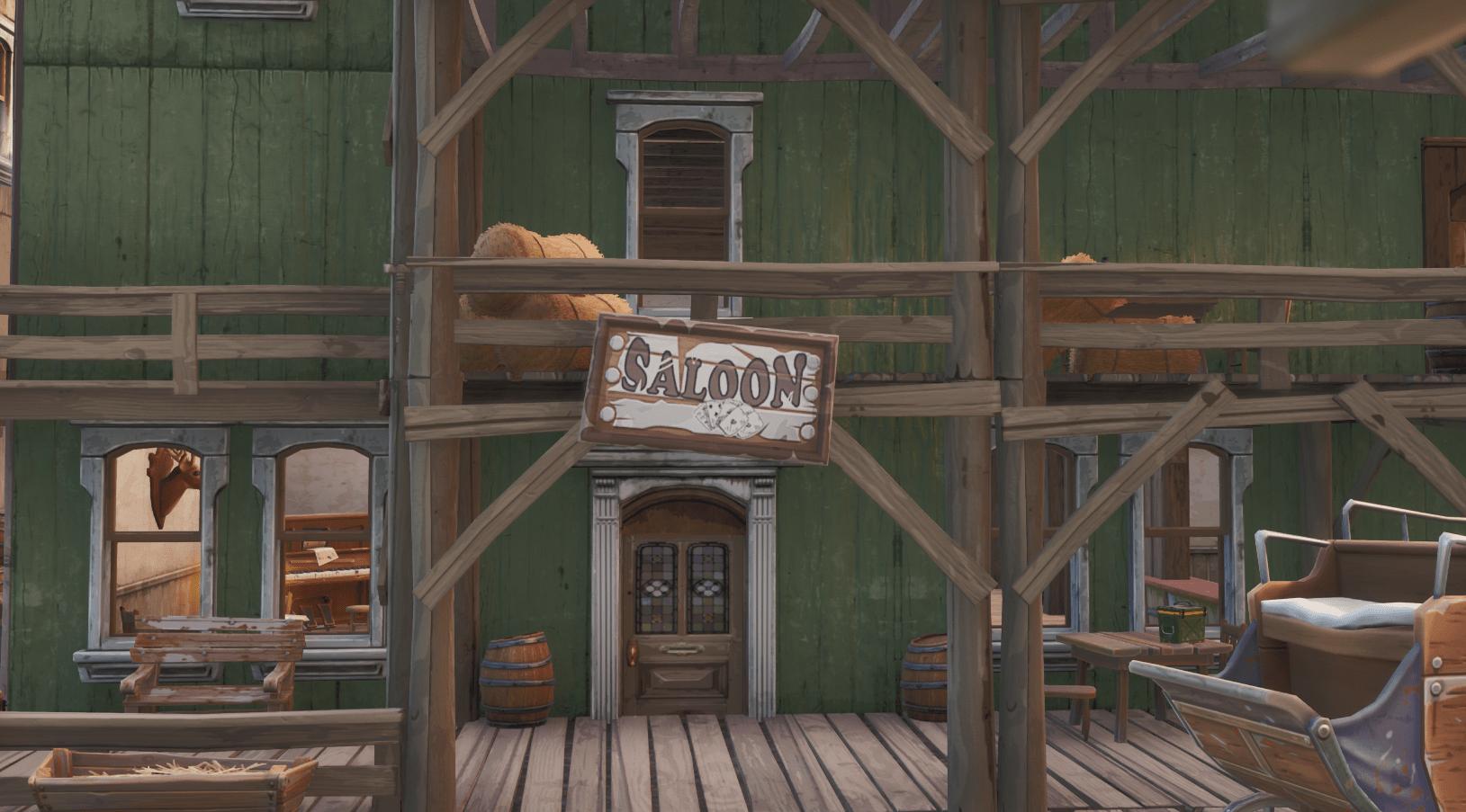 Fortnite    Änderungen an der Inhaltsaktualisierung der Karte für v10.00 - Tilted Town Saloon