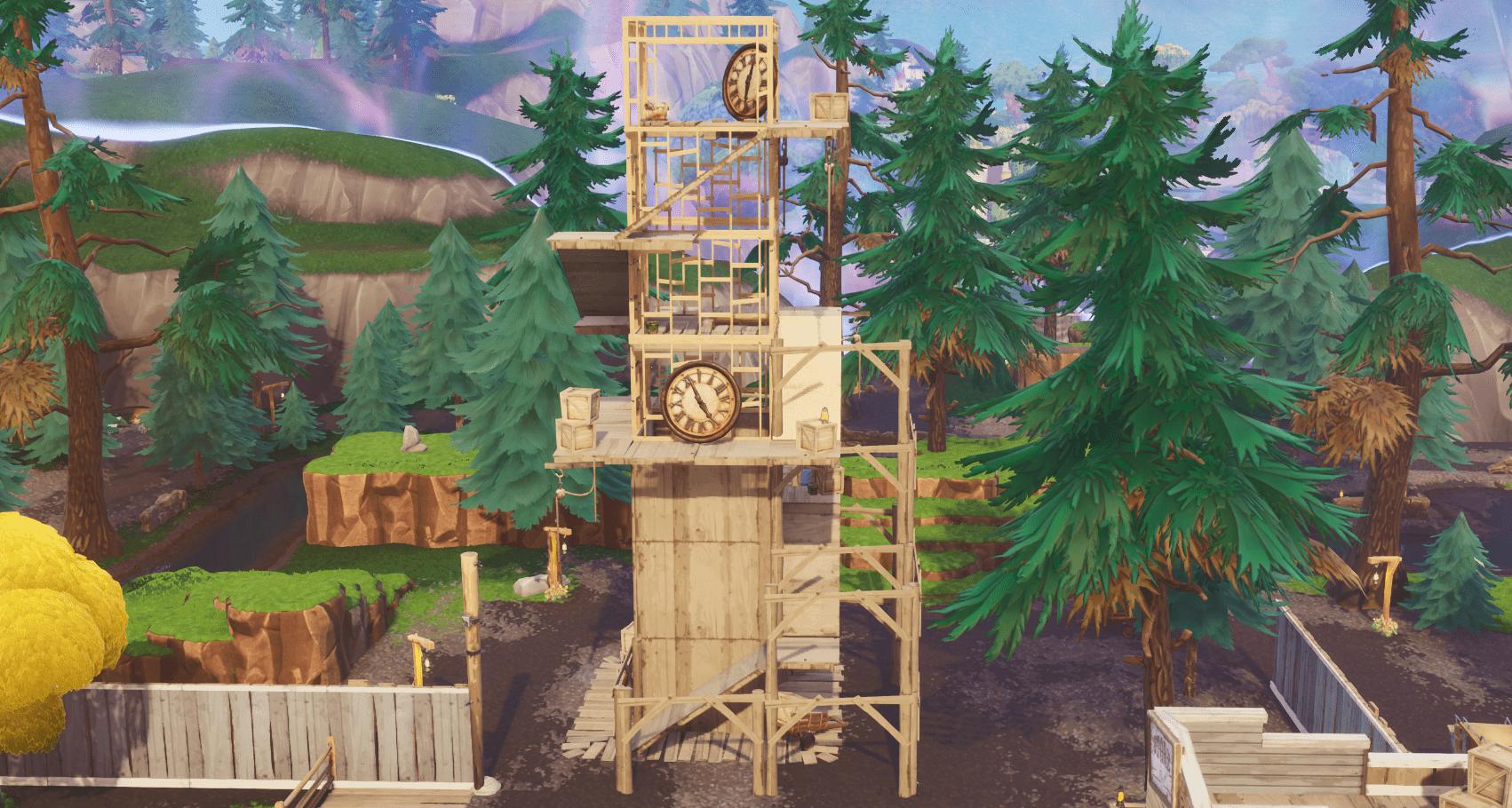 Fortnite    Änderungen an der Inhaltsaktualisierung der Karte in Version 10.00 - Tilted Town Clock Tower