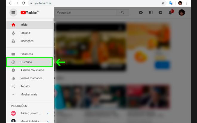 Unterrichtet: Löschen von Verlaufsdaten aus Ansichten und Suchen aus YouTube 7