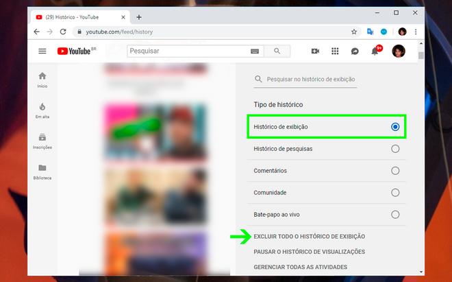 Unterrichtet: Löschen von Verlaufsdaten aus Ansichten und Suchen aus YouTube 12