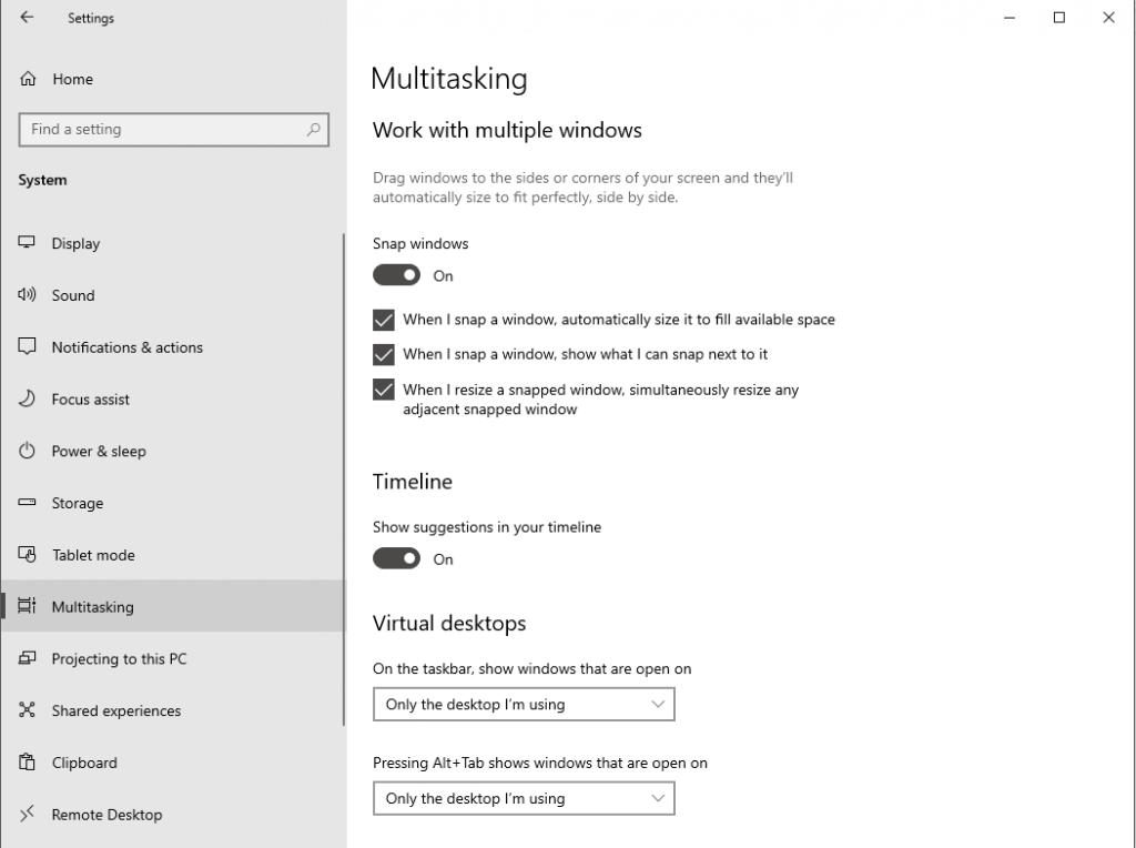 Snap Assist Windows 10 Aktivieren