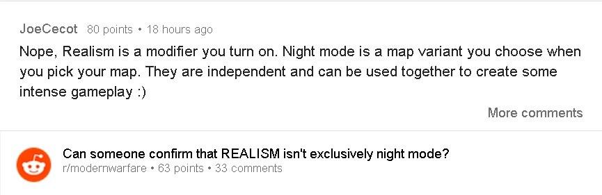 """Moderne Warfare-Entwickler bestätigen, dass """"Realismus"""" nicht nur für den Nachtmodus gilt 2"""