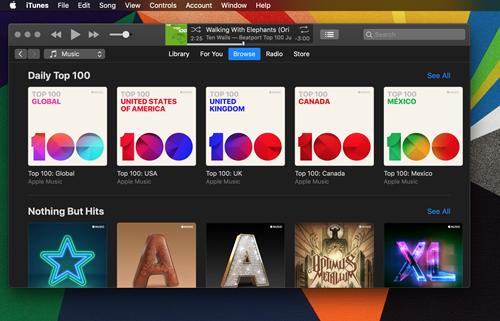 Apple  Musik hat einen dunklen Modus