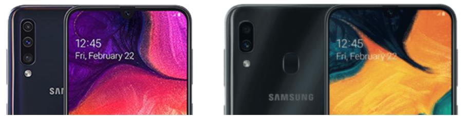 galaxy a30 und galaxy a50 kameras