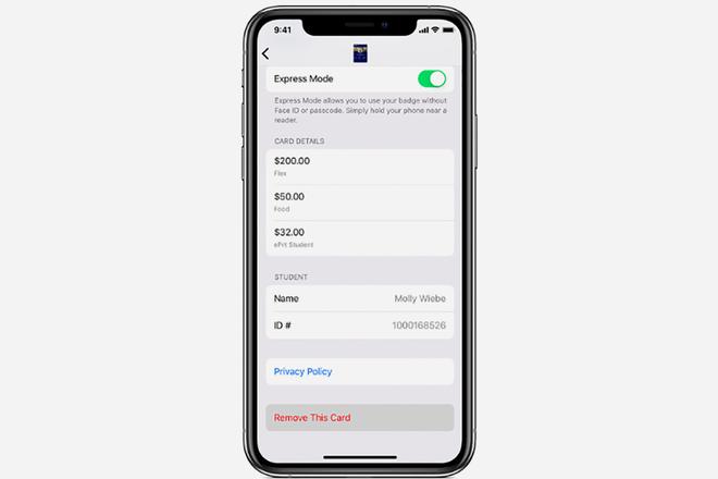 Verwendung Ihres Studentenausweises mit dem iPhone und Apple Watch 2