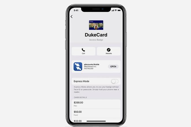 Verwendung Ihres Studentenausweises mit dem iPhone und Apple Watch 3